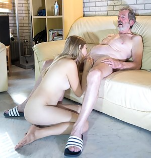 Nude Old Man and Teen Porn Pictures